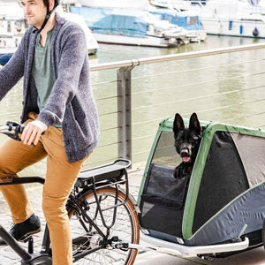 Croozer Dog Bike Trailer No / No / No Croozer XX Large Dog Bike Trailer for Dogs up to 45kg CTS287 PetsOwnUs - Pets Own Us