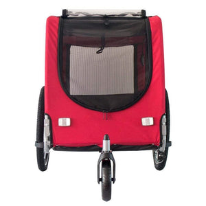DoggyHut 3 wheel dog strollers 2-in-1 Dog Stroller Jogger & Bike Trailer | Large | DoggyHut® 2020 Premium | Red PetsOwnUs - Pets Own Us