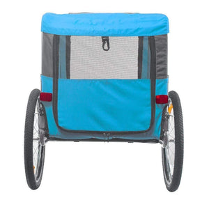 DoggyHut 3 wheel dog strollers Dog Bike Trailer | X Large  | Veelar by DoggyHut® | Blue 8020203 PetsOwnUs - Pets Own Us