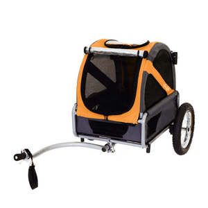 DoggyRide Mini 2020 Dog Bike Trailer | Orange | Axle Coupling | Dutch Dog Design® [ETA 2021] Pet Pushchairs and Strollers Brand_DoggyRide, Colour_Red, Maximum Loading Weight (kg)_>25kg, Price Range_£200-£300, Terrain_Gravel/Dirt Paths, Type_Bike Trailer, Tyres_AIR Dutch Dog