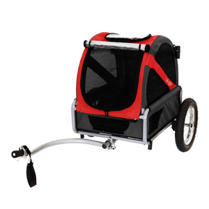 Dutch Dog Pet Pushchairs and Strollers DoggyRide Mini 2020 Dog Bike Trailer | Red | Axle Coupling | Dutch Dog Design® DRMNTR20-RD PetsOwnUs - Pets Own Us