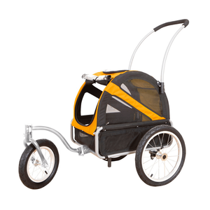 DoggyRide Mini Dog Jogger-Stroller | Orange | Dutch Dog Design® [ETA 2021] Pet Pushchairs and Strollers Brand_DoggyRide, Colour_Red, Maximum Loading Weight (kg)_>25kg, Price Range_£200-£300, Terrain_Gravel/Dirt Paths, Type_Bike Trailer, Tyres_AIR Dutch Dog