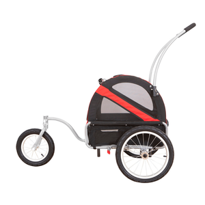 DoggyRide Mini Dog Jogger-Stroller | Red | Dutch Dog Design® [ETA 2021] Pet Pushchairs and Strollers Brand_DoggyRide, Colour_Red, Maximum Loading Weight (kg)_>25kg, Price Range_£200-£300, Terrain_Gravel/Dirt Paths, Type_Bike Trailer, Tyres_AIR Dutch Dog