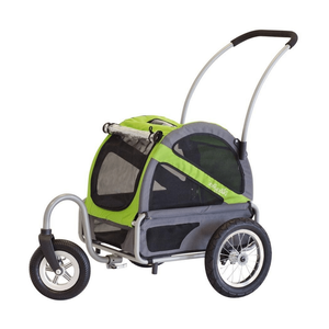 DoggyRide Mini Dog Stroller | Green | Dutch Dog Design® Pet Pushchairs and Strollers Brand_DoggyRide, Colour_Red, Maximum Loading Weight (kg)_>25kg, Price Range_£200-£300, Terrain_Gravel/Dirt Paths, Type_Bike Trailer, Tyres_AIR Dutch Dog