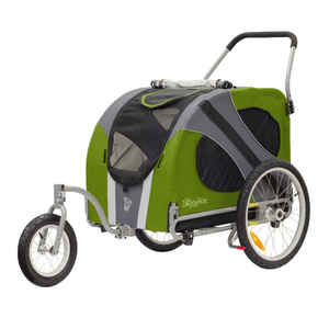 DoggyRide Novel 2020 Dog Jogger-Stroller | Green | Dutch Dog Design® Pet Pushchairs and Strollers Brand_DoggyRide, Colour_Red, Maximum Loading Weight (kg)_>50kg, Price Range_£300-£400, Price Range_£400-£500, Terrain_Off Road/All Terrain, Type_Bike Trailer, Tyres_AIR Dutch Dog