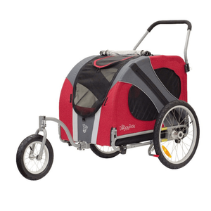 DoggyRide Novel 2020 Dog Jogger-Stroller | Red | Dutch Dog Design® Pet Pushchairs and Strollers Brand_DoggyRide, Colour_Red, Maximum Loading Weight (kg)_>50kg, Price Range_£300-£400, Price Range_£400-£500, Terrain_Off Road/All Terrain, Type_Bike Trailer, Tyres_AIR Dutch Dog