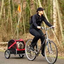 Dutch Dog Pet Pushchairs and Strollers Trailer + Free Leash Set Mini DoggyRide Dog Bike Trailer by Dutch Dog - Red DRMNTR02-RD PetsOwnUs - Pets Own Us