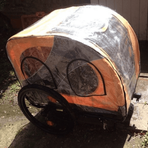 Dutch Dog Pet Pushchairs and Strollers Add Raincover (+ £23) Novel 10 DoggyRide Dog Bike Trailer by Dutch Dog - Orange DRN10TR13-OR + DRNVRC09 PetsOwnUs - Pets Own Us