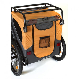 Dutch Dog Pet Pushchairs and Strollers Trailer + Mat + Roof Rack + Kick Stand Novel 10 DoggyRide Dog Bike Trailer by Dutch Dog - Orange DRN10TR13-OR PetsOwnUs - Pets Own Us