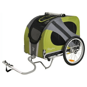 Dutch Dog Pet Pushchairs and Strollers Trailer + Free Leash Set Novel DoggyRide Dog Bike Trailer by Dutch Dog -Green (incl. leash set) DRNVTR13-GR PetsOwnUs - Pets Own Us