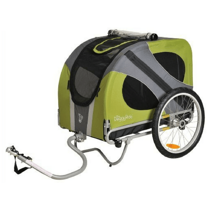 Novel DoggyRide Dog Bike Trailer by Dutch Dog -Green (incl. leash set)  ( ETA 7 SEPT 2020)