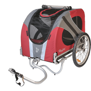 Dutch Dog Pet Pushchairs and Strollers Trailer + Free Leash Set Novel DoggyRide Dog Bike Trailer by Dutch Dog - Red (incl. leash set) DRNVTR13-RD PetsOwnUs - Pets Own Us