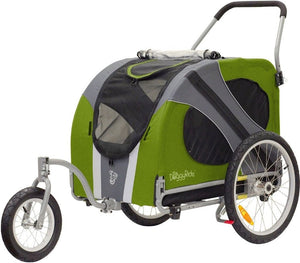 Dutch Dog Pet Pushchairs and Strollers Jogger/Stroller + Free Leash Set Novel DoggyRide Dog Jogger/Stroller by Dutch Dog - Green (incl. leash set) DRNVJS13-GR PetsOwnUs - Pets Own Us