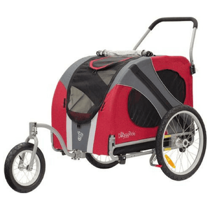 Dutch Dog Pet Pushchairs and Strollers Jogger/Stroller + Free Leash Set Novel DoggyRide Dog Jogger/Stroller by Dutch Dog - Red (incl. leash set) DRNVJS13-RD PetsOwnUs - Pets Own Us