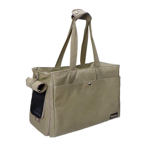 Ibiyaya Pet Carriers and Crates Canvas Pet Tote Bag by Ibiyaya - Army Green FC1428-LG PetsOwnUs - Pets Own Us