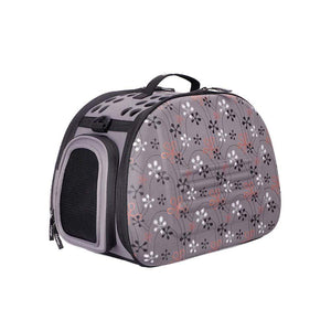 Ibiyaya Pet Carriers and Crates Classic Collapsible Shoulder Pet Carrier by Ibiyaya - Grey FC1007-G PetsOwnUs - Pets Own Us