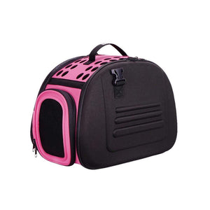 Ibiyaya Pet Carriers and Crates Classic Collapsible Shoulder Pet Carrier by Ibiyaya - Pink FC1007-P PetsOwnUs - Pets Own Us