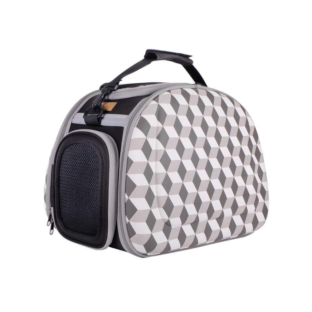 Ibiyaya Pet Carriers and Crates Collapsible Shoulder Pet Carrier by Ibiyaya - Geometric FC1420-RB PetsOwnUs - Pets Own Us