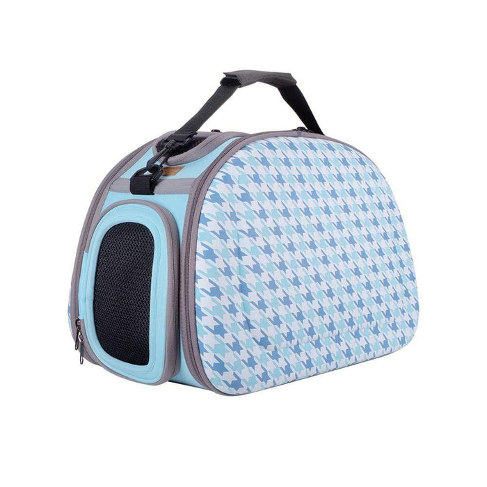 Collapsible Shoulder Pet Carrier by Ibiyaya - Houndstooth