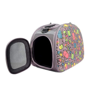 Ibiyaya Pet Carriers and Crates Collapsible Shoulder Pet Carrier by Ibiyaya - Robot FC1420-RO PetsOwnUs - Pets Own Us