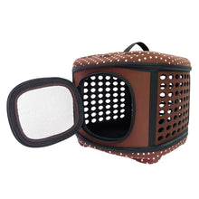 Ibiyaya Pet Carriers and Crates Collapsible Traveling Pet Hand Carrier by Ibiyaya - Brown FC1006-BR PetsOwnUs - Pets Own Us