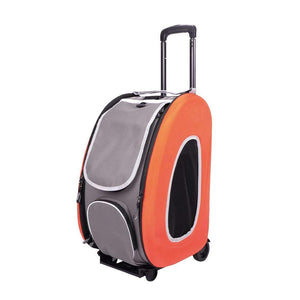 Ibiyaya Pet Carriers and Crates EVA Pet Carrier/ Pet Wheeled Carrier by Ibiyaya - Orange FC1008-O PetsOwnUs - Pets Own Us