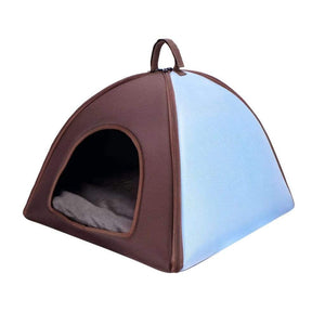 ibiyaya Pet Tent Bed-Blue PetsOwnUs - Pets Own Us