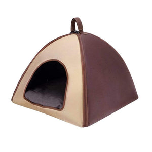 ibiyaya Pet Tent Bed-Brown PetsOwnUs - Pets Own Us