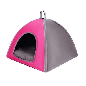 ibiyaya Pet Tent Bed-Pink PetsOwnUs - Pets Own Us