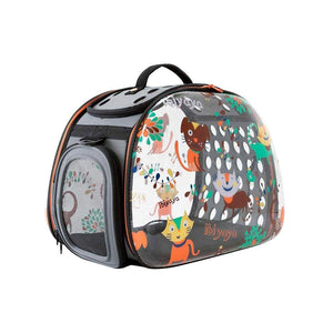 Ibiyaya Pet Carriers and Crates Transparent Hardcase Pet Carrier by Ibiyaya - Dogs&Cats FC1220-DC PetsOwnUs - Pets Own Us