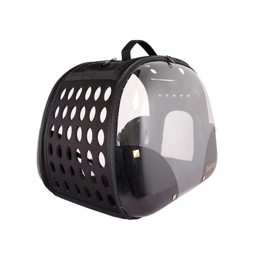 Ibiyaya Pet Carriers and Crates Transparent Hardcase Pet Carrier by Ibiyaya - Hard Rock FC1220-HR PetsOwnUs - Pets Own Us