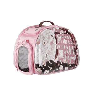 Ibiyaya Pet Carriers and Crates Transparent Hardcase Pet Carrier by Ibiyaya - Valentine FC1220-VT PetsOwnUs - Pets Own Us