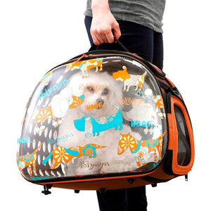 Ibiyaya Pet Carriers and Crates Transparent Hardcase Pet Carrier by Ibiyaya - Woof FC1220-W PetsOwnUs - Pets Own Us