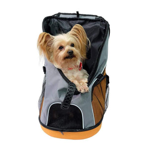 Ibiyaya Pet Carriers and Crates Ultralight Backpack Pet Carrier by Ibiyaya - Grey/Orange [ETA end-May] PetsOwnUs - Pets Own Us