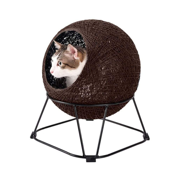 ibiyaya Zentangle Pet Cave Pod – Choco Brown PetsOwnUs - Pets Own Us