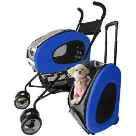 5-in-1 Dog Stroller Combo by Innopet - Blue