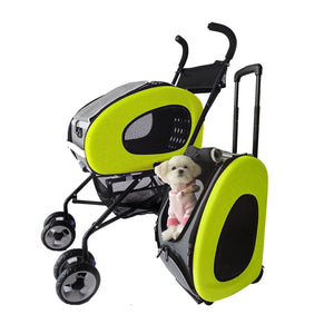 Innopet Pet Pushchairs and Strollers Lime Green 5 in1 Pet Stroller Combo by Innopet- Blue IPS-020 PetsOwnUs - Pets Own Us