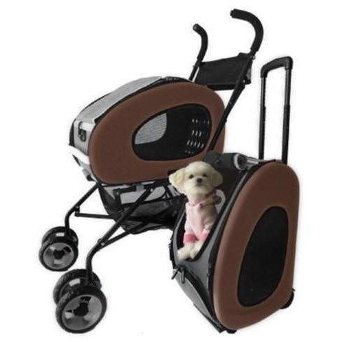 Innopet Pet Pushchairs and Strollers Default Title 5 in1 Pet Stroller Combo by Innopet- Chocolate IPS-020C PetsOwnUs - Pets Own Us