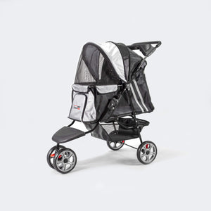 Innopet Pet Pushchairs and Strollers Black Silver / No All Terrain Buggy Dog Stroller by Innopet IPS-01BS-1 PetsOwnUs - Pets Own Us