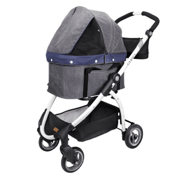Innopet Pet Pushchairs and Strollers Default Title Cleo Denim Express Buggy Cat Stroller System by Innopet IPS-02/D PetsOwnUs - Pets Own Us
