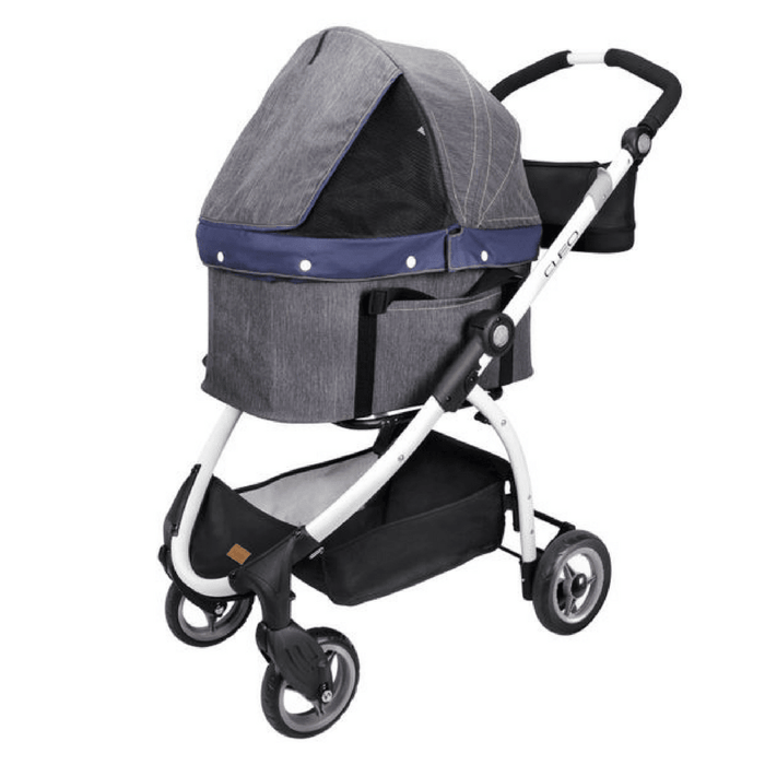 Cleo Denim Express Buggy Pet Stroller System by Ibiyaya