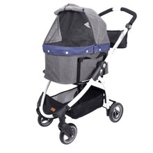 Innopet Cleo Denim Express Buggy 4 wheels Cat Stroller - Pets Own Us
