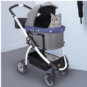 Innopet Cleo Denim Express Buggy Cat Stroller, cat - Pets Own Us