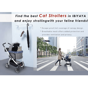 Innopet Styilsh Cleo Denim Express Buggy Cat Stroller - Pets Own Us