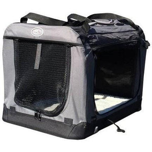 Innopet Pet carriers & crates 50cm Collapsible All in One Pet Carrier bag by Innopet - Grey Black  - Pets Own Us