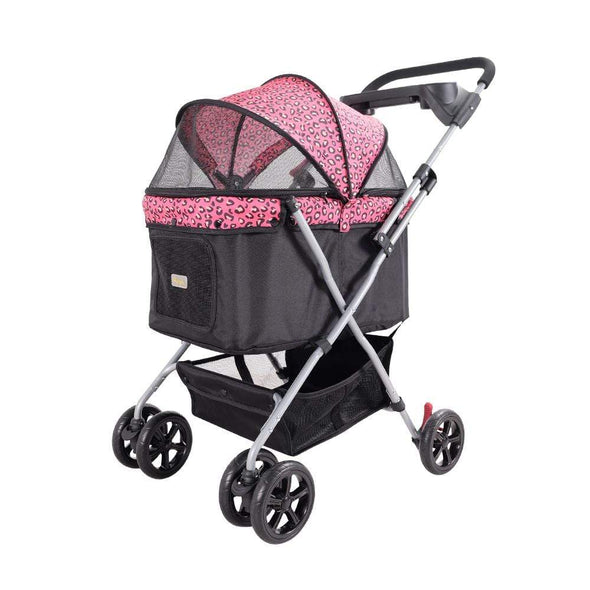 Innopet 3 wheel dog strollers Ibiyaya Easy Strolling Pet Buggy by Innopet – PinkPard PetsOwnUs - Pets Own Us