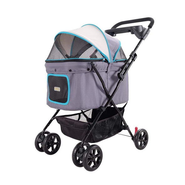Innopet 3 wheel dog strollers Ibiyaya Easy Strolling Pet Buggy by Innopet – Simple Gray PetsOwnUs - Pets Own Us