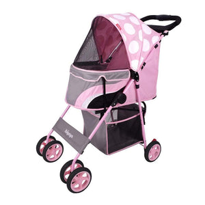 Innopet 3 wheel dog strollers Ibiyaya Pop Art Pet Stroller by Innopet – Dotty Diva IPS-034/OX-2 PetsOwnUs - Pets Own Us