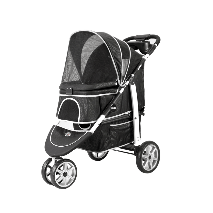 Monaco Pet Buggy and Stroller by InnoPet - Black incl Rain Cover