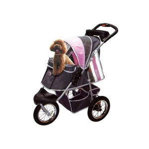 Innopet Pet Pushchairs and Strollers Pet Stroller Buggy Comfort AIR by Innopet, Dark Grey/Pink IPS-040/P PetsOwnUs - Pets Own Us